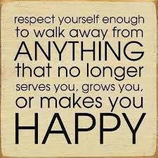 respect yourself enough